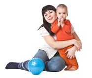 Mum e criança felizes Fotografia de Stock Royalty Free