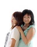 Mum e filha que têm o divertimento Imagens de Stock Royalty Free
