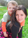 Mum e o filho Fotos de Stock Royalty Free