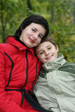 Mum e o filho Imagem de Stock