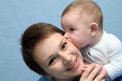 Mum en de zoon Stock Foto