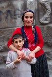 Mum en de zoon Stock Foto's