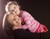 Mum en dochter royalty-vrije stock foto