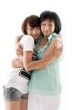 Mum en dochter die pret hebben Royalty-vrije Stock Afbeeldingen