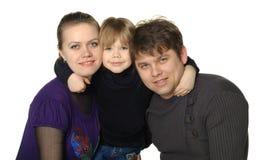 Mum feliz da família, paizinho, filho Imagens de Stock