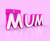 Mum Giftbox Indicates Presents Celebrate And Wrapped Royalty Free Stock Photography
