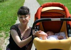 Mum and her child stock photos