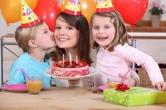 Mum and kids Stock Image