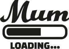 Mum Loading bar. Family vector Royalty Free Stock Photos