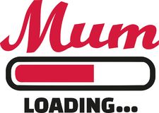 Mum Loading bar. Family vector Royalty Free Stock Images