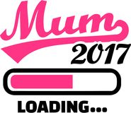 Mum 2017 is loading. Bar vector Royalty Free Stock Images