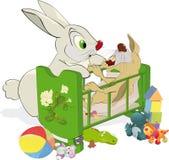 mum not obedient rabbit small Στοκ φωτογραφία με δικαίωμα ελεύθερης χρήσης