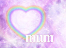 Mum  Rainbow Heart Frame Background Royalty Free Stock Photos