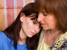 Mum regrets the daughter Royalty Free Stock Images