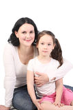 Mum and the small daughter Royalty Free Stock Photography