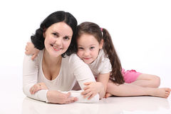 Mum and the small daughter. Stock Images