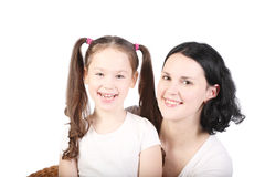 Mum and the small daughter. Stock Photo