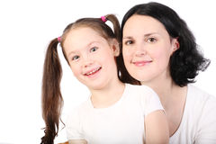 Mum and the small daughter. Royalty Free Stock Image