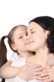 Mum and the small daughter. Stock Photography