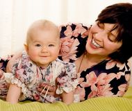 Mum with a small daughter Royalty Free Stock Photography