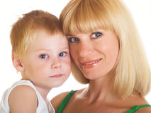 Mum with son Royalty Free Stock Photo