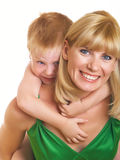 Mum with son Royalty Free Stock Image