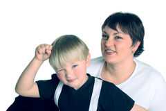 Mum and the son ... royalty free stock photography