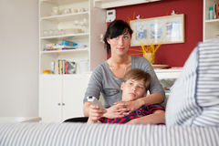 Mum and son Stock Photography