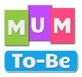 Mum To Be Colorful Stripes Royalty Free Stock Photos