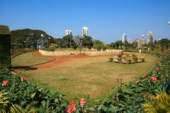 Mumbai的斜坡上的花园 免版税库存图片