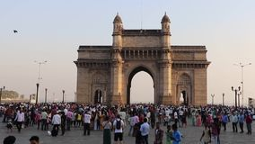 mumbai της Ινδίας πυλών απόθεμα βίντεο