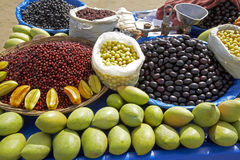 Mumbai beach fruit stall Stock Photography