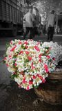 Mumbai blommamarknad arkivbild