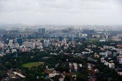 Mumbai city. A bird's eye view of Mumbai city Royalty Free Stock Photo