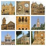 Mumbai city landmarks collage Royalty Free Stock Photo