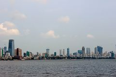 Mumbai city scape. During day time down south India stock photography