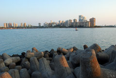 Mumbai city skyline seen late in evening Royalty Free Stock Photography