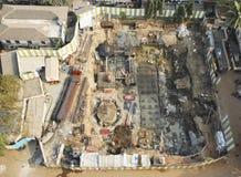 Mumbai construction development laying foundations Royalty Free Stock Photo