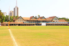 Mumbai cricket pavilion and ground in india Stock Image