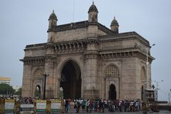 Mumbai, de poort van India stock foto