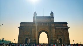 Mumbai, de poort van India royalty-vrije stock foto's