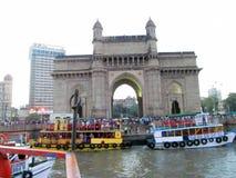 Mumbai, de poort van India Stock Foto's