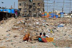 Mumbai förorening arkivbild