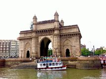 Mumbai Ferry at Gateway of India Stock Photo