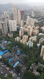New infrastructure complex developing suburbs of Mumbai. Mumbai is financial capital of India. New tall high rise apartment buildings are developing in far Stock Photo