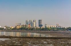 Mumbai from haji ali dargah Royalty Free Stock Photo