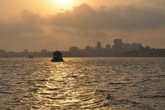 Mumbai harbor with Gate of India, India Stock Image