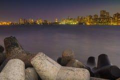 Mumbai horisont - från Nariman Point Royaltyfri Bild