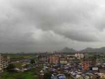 Mumbai im Monsun stockbild