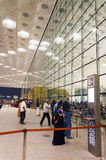Mumbai, Inde - 5 janvier 2015 : Visite Chhatrapati Shivaji International Airport de voyageurs Photo libre de droits